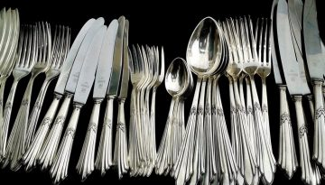 cutlery, silverware, knives